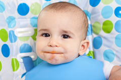 Dirty cute little boy Stock Photo
