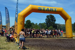 Dirty Dash starting line Royalty Free Stock Photos