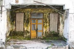 Dirty decayed house front royalty free stock image