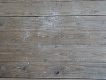 Dirty Deck Boards. A deck covered in dirt and grit Stock Photo