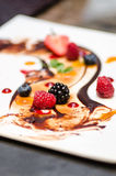 Dirty dessert plate Stock Image