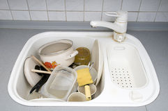 Dirty dishes Stock Photos