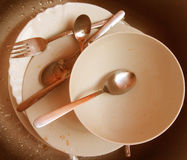 Dirty dishes. Royalty Free Stock Photography