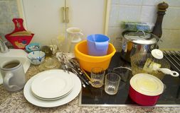 Dirty dishes Royalty Free Stock Photo