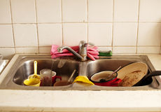 Dirty dishes Stock Image