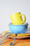 Dirty dishes on the table Royalty Free Stock Photo