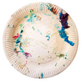 Dirty disposable plate Royalty Free Stock Photography
