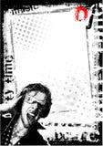 Dirty DJ background vector illustration