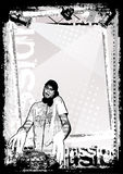 Dirty DJ background 2 royalty free illustration