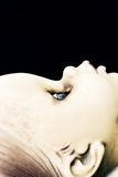 Dirty Doll Profile. A close up profile image of a scary, dirty doll Royalty Free Stock Images