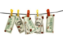 Dirty dollars Royalty Free Stock Images