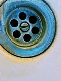 Dirty drain hole. Abstract photo with copy space Stock Photos