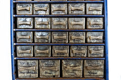 Dirty drawers box Royalty Free Stock Images