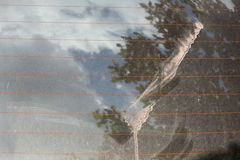 Dirty dust back glass Royalty Free Stock Photos