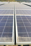 Dirty Dusty Photovoltaic Panels Stock Image