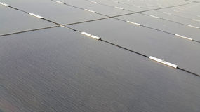 Dirty Dusty Photovoltaic Panels Royalty Free Stock Image