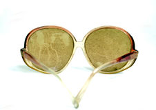 Dirty and dusty sunglasses. Picture of a Dirty and dusty sunglasses Stock Images