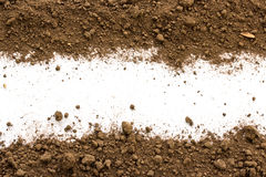 Dirty earth on white background. Royalty Free Stock Photo