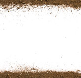 Dirty earth on white background. Royalty Free Stock Image