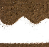 Dirty earth on white background. Stock Photos