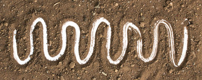 Dirty earth on white background. Natural soil texture Stock Photography