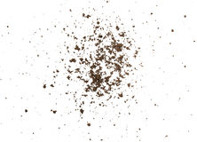 Dirty earth on white background. Royalty Free Stock Images