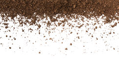 Dirty earth on white background. Stock Image