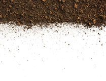 Dirty earth on white background. Stock Photography