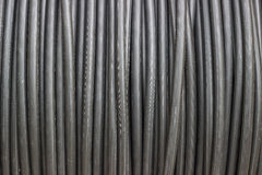 Dirty electric cable roll Stock Photo