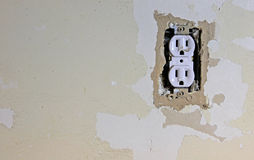 Dirty Electrical Outlet Royalty Free Stock Photos