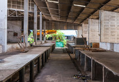 The dirty empty market with waste as background Royalty Free Stock Image