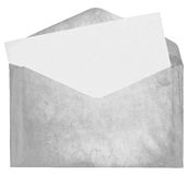 Dirty envelope. With blank card isolated on white background Royalty Free Stock Photos