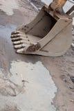 Dirty excavator bucket. Stock Image