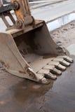 Dirty excavator bucket. Royalty Free Stock Image