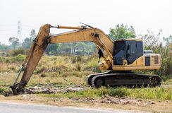 Dirty excavator vehicle Royalty Free Stock Images