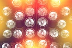 Dirty expire tin can, expire food concept. Royalty Free Stock Image