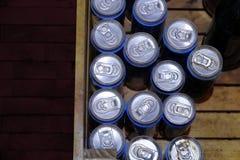 Dirty expire tin can food. Stock Photos