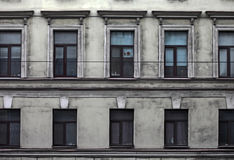 Dirty facade of old building in the historical city Royalty Free Stock Photo