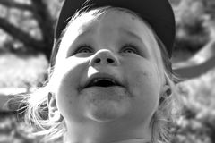 Free Dirty-faced Happiness Royalty Free Stock Image - 920316