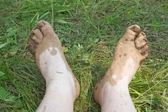 Dirty Feet Stock Images