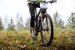 Dirty feet of mountainbiker Royalty Free Stock Photography