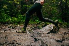 Dirty feet runner Stock Image
