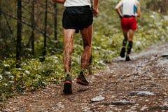Dirty feet runner Stock Images