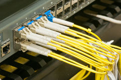 Dirty fiber optic network Stock Photos
