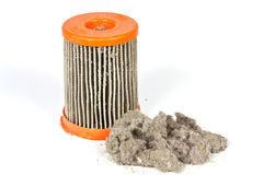 Dirty filter vacuum cleaner Royalty Free Stock Images