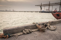 Dirty fish harbor Stock Images