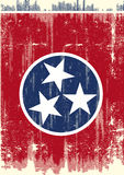 Dirty Flag of Tennesse. Scratched Tennessee Flag. A flag of Tennessee with a grunge texture Royalty Free Stock Image