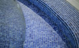 Dirty floor swimming pool detail stock images