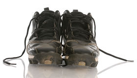 Dirty football cleats Stock Images
