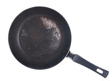 Dirty frying pan Stock Photography